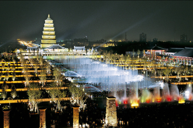 Xi'an Night Tour: South Gate Square, Fountain Show, Tang Dynasty Theme Squares